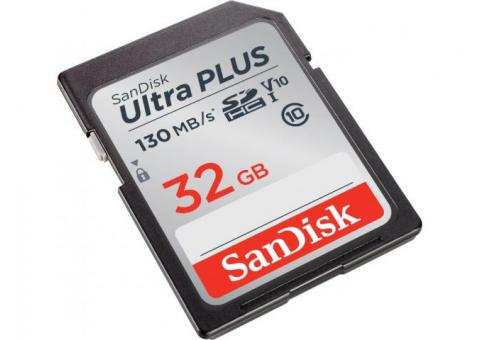 ScanDisk 32 GB Ultra Plus SDHC Card