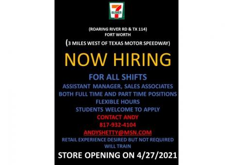7-Eleven- Assistant Manager and Sales Associates